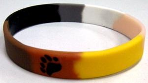 Bracelet Bear en silicone pour les pride et marche Gay