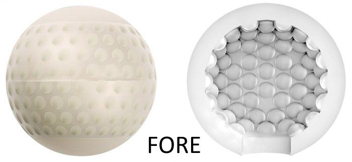 Masturbateur Stroker Ball Forme de balle de golf